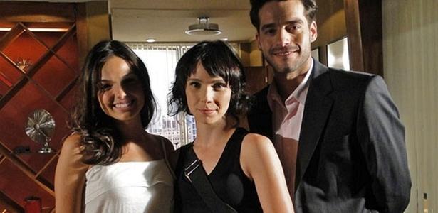 Isis Valverde, Débora Falabella e Guilherme Winter nos bastidores de gravação de