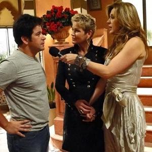 Murilo Benício, Xuxa e Claudia Raia durante gravação de Ti-Ti-Ti (29/1/2011)