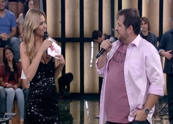 Fernanda Lima e Leandro Hassum no quadro Jogo de Cama, do programa Amor & Sexo (8/2/2011)