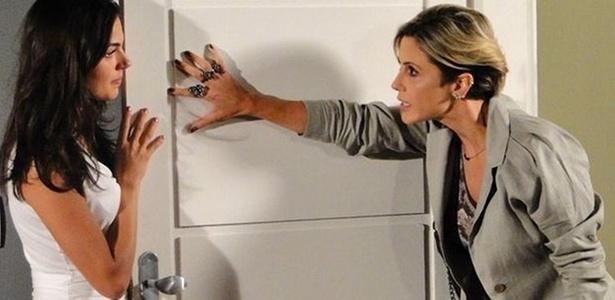 As atrizes Isis Valverde (à esq.) e Guilhermina Guinle em cena de