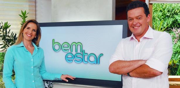 """Mariana Ferrão e Fernando Rocha, apresentadores do """"Bem Estar"""" (fev/2011)"""