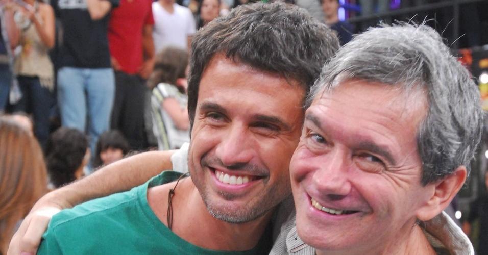 Eriberto Leão e Serginho Groisman no