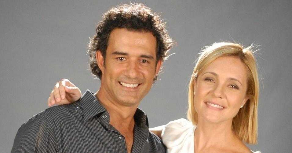 Marcos Pasquim e Adriana Esteves, protagonistas de