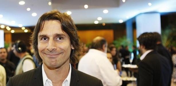 O ator Murilo Rosa na festa de lançamento da nova grade de programação da Globo, na noite desta terça-feira, em São Paulo (29/3/2011)