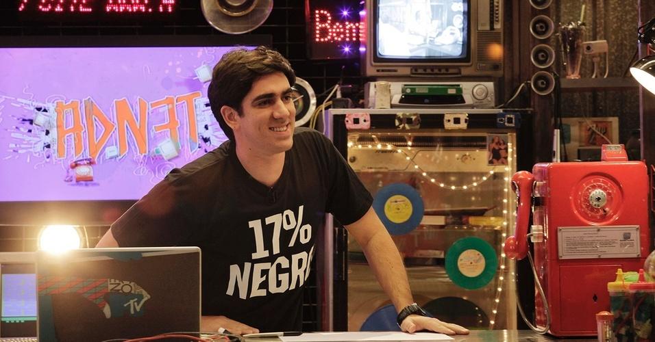 O apresentador Marcelo Adnet entrevista Amaury Jr em seu programa nesta quinta-feira (14/4/2011)