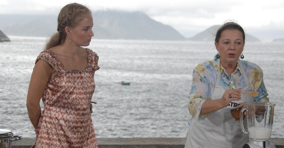 Angélica conversa recebe Bete Mendes no programa