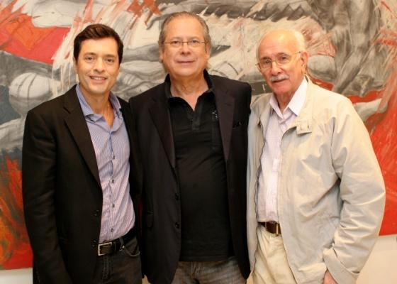 Tiago Santiago, José Dirceu e Reynaldo Boury