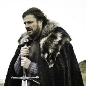 """Em """"Game og Thrones"""", Ned Stark (Sean Bean) é chefe de uma das principais famílias de Westeros (2011)"""