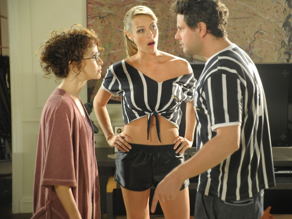 Clarisse (Débora Falabella), Amanda (Luana Piovani) e Pedro (Selton Mello) em