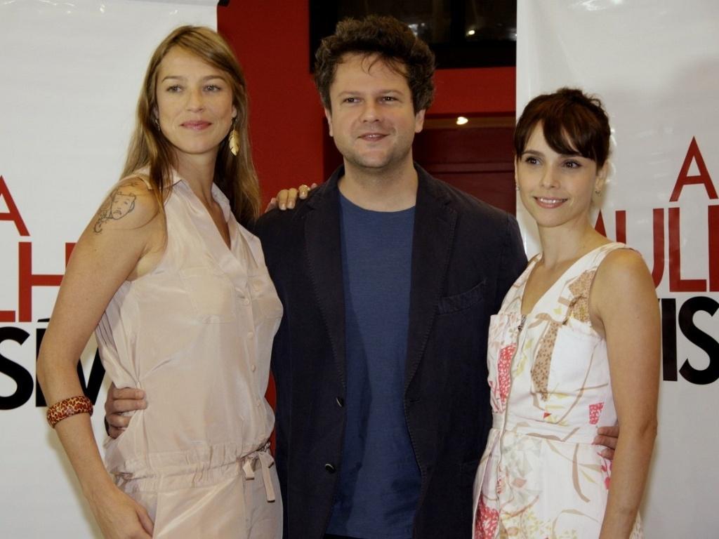 Luana Piovani, Selton Mello e Débora Falabella no lançamento de