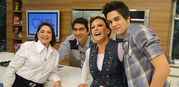 Da esquerda para a direita, dona Maria Inês, Zeca Camargo, Ana Maria Braga e Luan Santana no