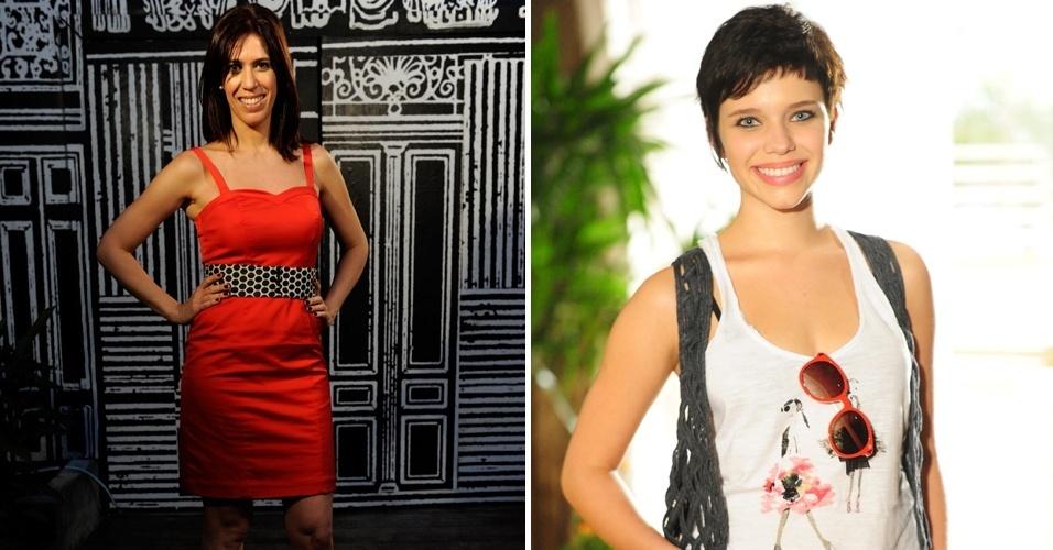 """Maria Clara Gueiros, a Bibi, e Bruna Linzmeyer, a Leila, da novela """"Insensato Coração"""" (2011)"""