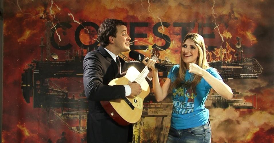 Rafael Cortez e a humorista Dani Calabresa no