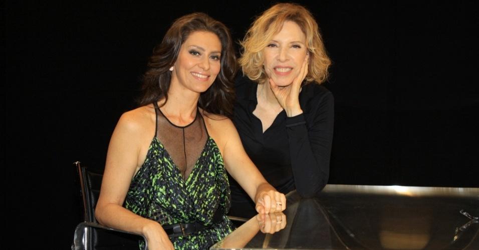 Maria Fernanda Cândido e Marília Gabriela no