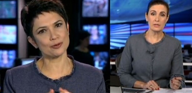 Sandra Annenberg e Fátima Bernardes terno igual