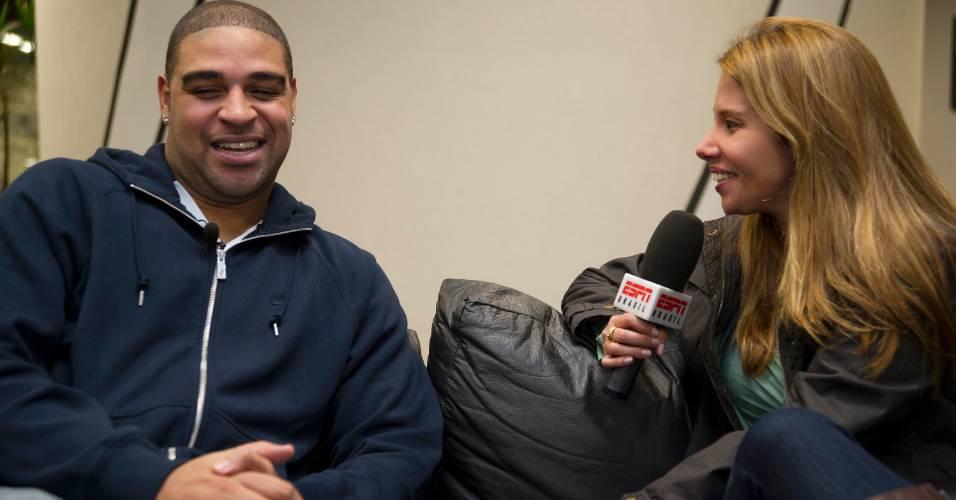 Adriano dá entrevista para a ESPN