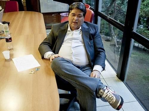 O apresentador José Luiz Datena em entrevista à Folha (2/8/11)