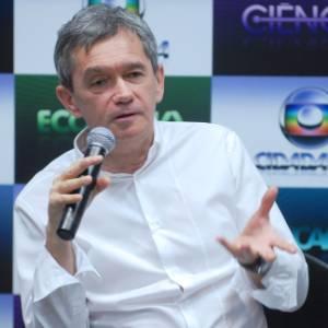O apresentador Seginho Groisman participa da coletiva de Globo Cidadania, nova faixa de programação da Rede Globo com atrações educativas (16/8/11)