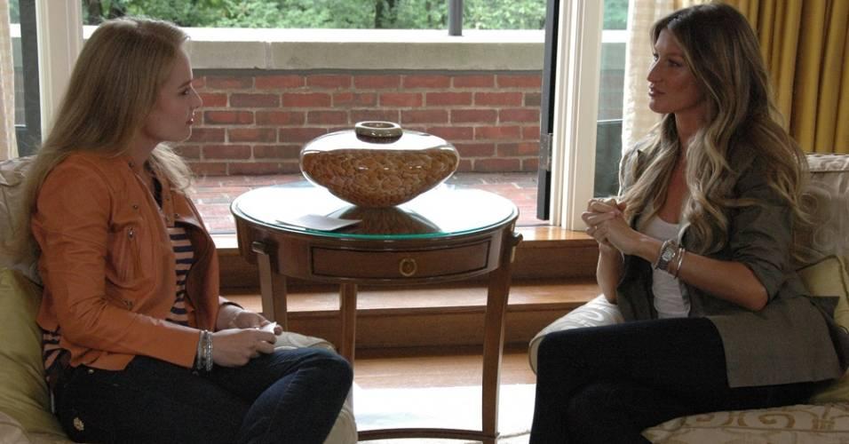 Angélica entrevista Gisele Bündchen nos Estados Unidos para o