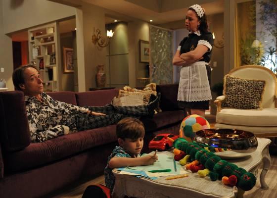 Pedro Cardoso e Guta Stresser em cena de A Grande Família (25/8/2011)