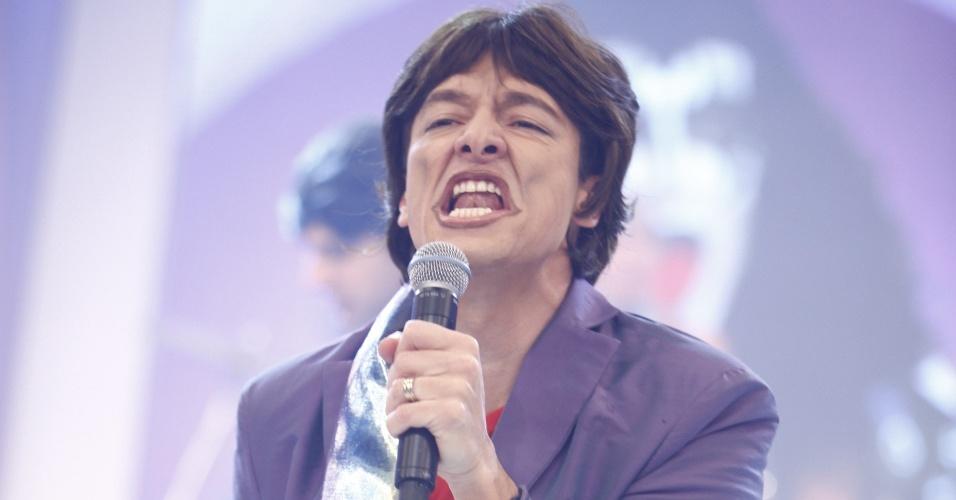 Rodrigo Faro imita Mick Jagger em
