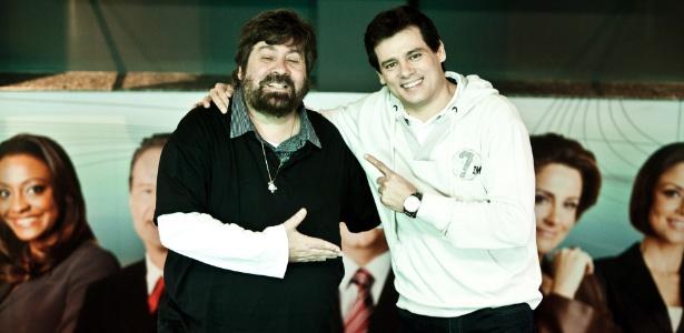 """Roberto Manzoni (Magrão), diretor do """"Domingo Legal"""", e Celso Portiolli (4/10/11)"""