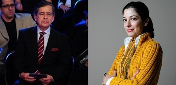 Paulo Henrique Amorim e Ana Paula Padrão, que participam da cobertura dos Jogos Olímpicos