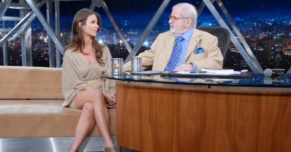 Sabrina Machado em entrevista no
