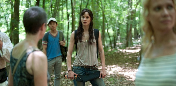 A atriz Sarah Wayne Callies em cena da segunda temporada de The Walking Dead