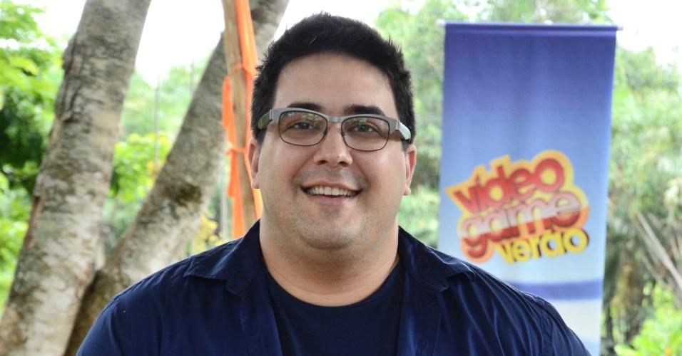 André Marques durante gravação do