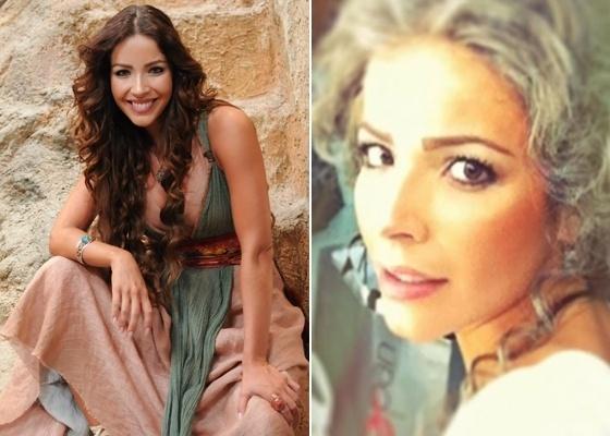 """A atriz Renata Dominguez em cena da minissérie """"Rei Davi"""", da Record"""