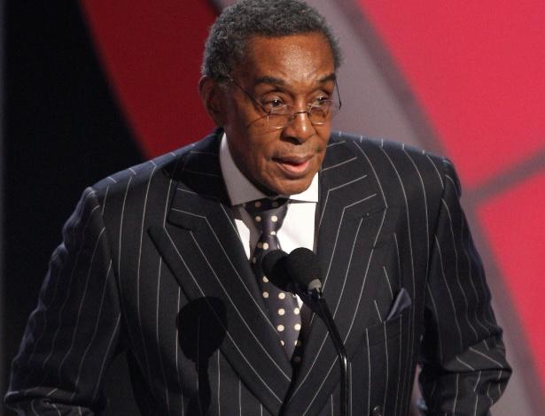 """Don Cornelius durante o """"BET Award"""" em 2009 (28/6/2009)"""