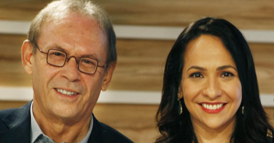 Dupla de apresentação do Oscar, Maria Beltrão e José Wilker (26/2/12)