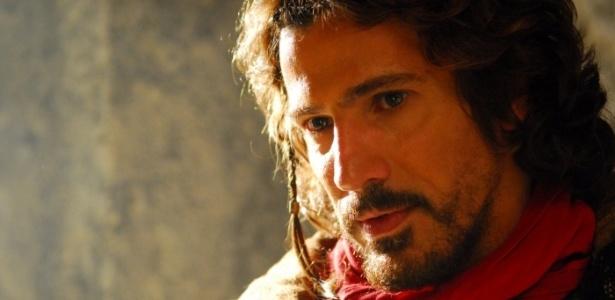 Leonardo Brício como Rei Davi, na minissérie da Record (2012)
