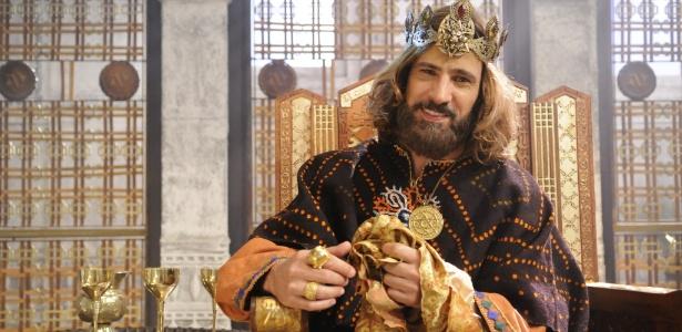 """O ator Leonardo Brício em cena da série """"O Rei Davi"""", da Record"""