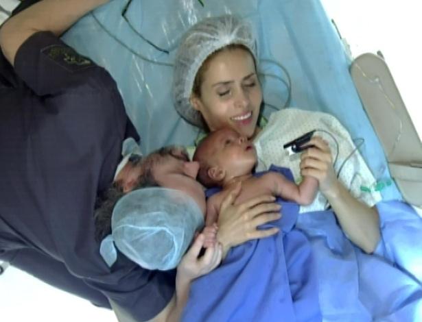 Loureço, Celina e o bebê