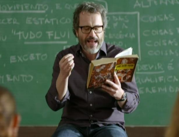Lourenço usa Guimarães Rosa e Cazuza para falar do fluxo da vida, em sua aula de literatura