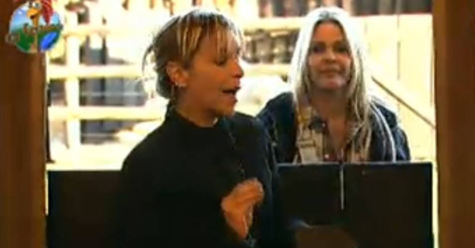 Anna Markun se assusta com o comportamento da égua Funny (27/7/11)