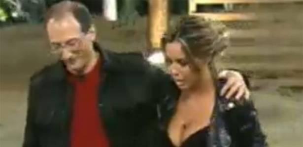 Renata Banhara e Britto Jr. na primeira eliminação do programa