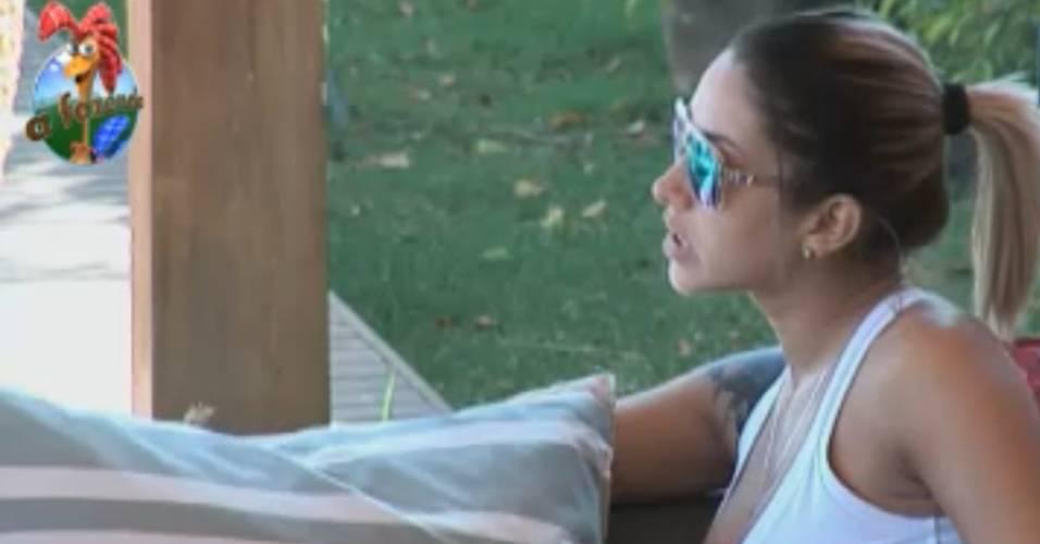 Dani Bolina quer saber quem será indicado para a Roça pela fazendeira Joana Machado (14/8/11)