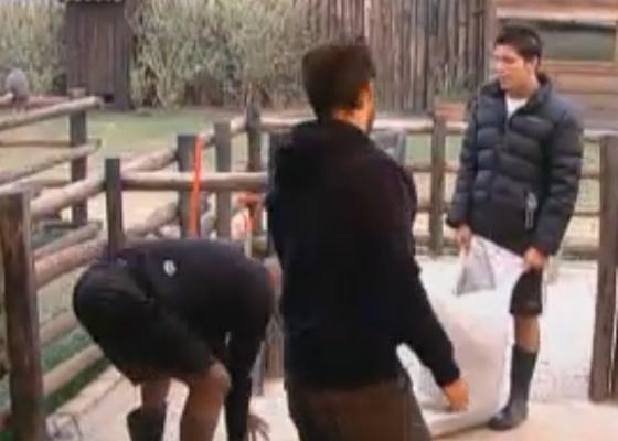 Thiago, Marlon e Dinei são os primeiros a acordar na casa (21/9/11)
