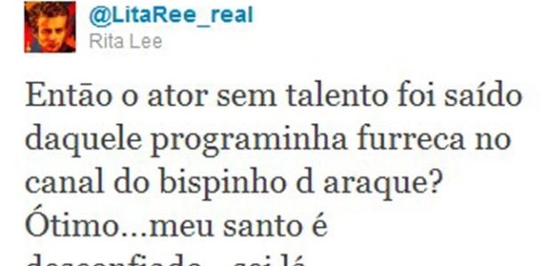 Rita Lee critica ator e emissora (29/09/11)