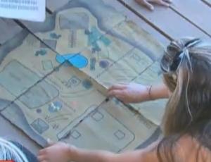 Peões unem pistas para formar o mapa do tesouro (03/10/11)