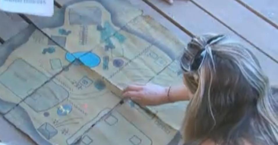 Peões unem pistas para formar o mapa do tesouro(03/10/11)