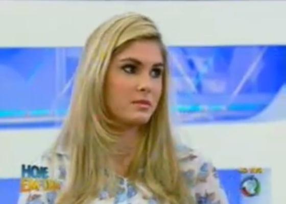 Bárbara Evans participa do programa Hoje em Dia da Rede Record (07/10/11)