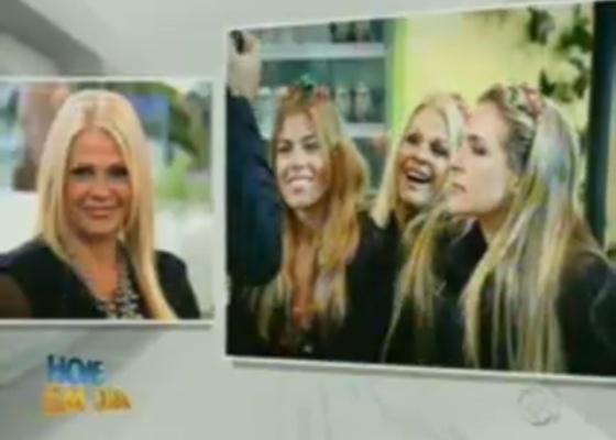 Monqiue Evans participa do programa Hoje em Dia junto com Raquel e Joana Machado (13/10/11)