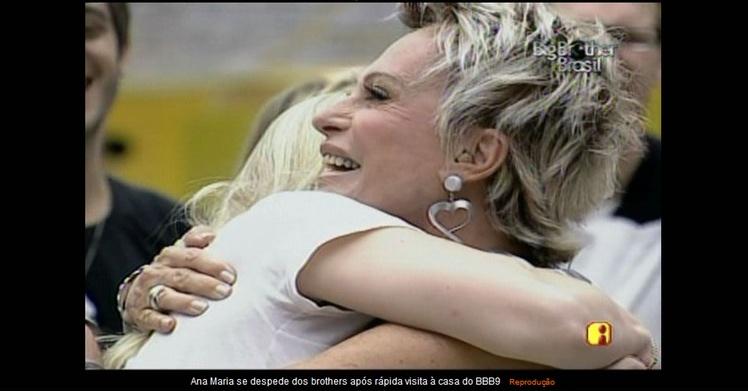 Ana Maria Braga se despede de Ana Carolina após visitar o BBB9