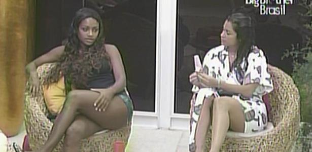 Jaqueline diz a Maria que está calma para o programa de eliminação desta terça (15/3/11)