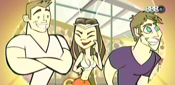 Programa mostra animação com Maria entre o filé (Wesley) e a rabada (Mau Mau) (15/3/11)