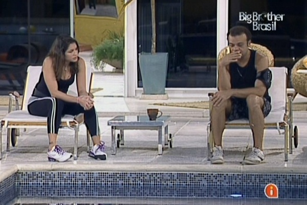 Maria e Daniel estranham o fato de não ter manutenção externa antes de prova e acreditam que liderança será disputada fora da casa (24/3/11)